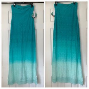 Roxy Rolling Waves Strapless Maxi Dress Small